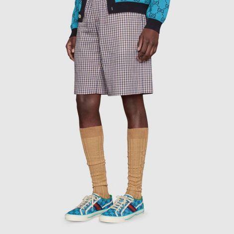 Gucci Ayakkabı Tennis 1977 Mavi - Gucci Sneakers Ayakkabi Mens Gucci Tennis 1977 Gg Multicolor Sneaker Mavi