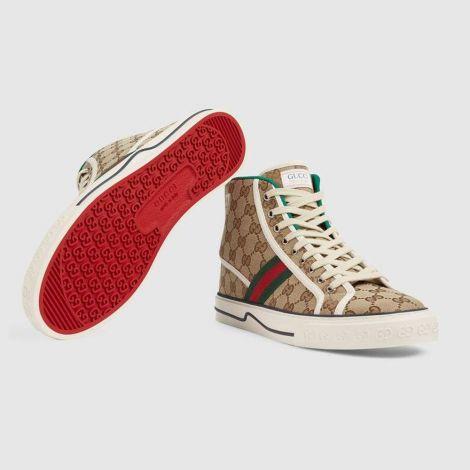Gucci Ayakkabı Off The Grid Bej - Gucci Sneakers Ayakkabi Mens Gucci Tennis 1977 High Top Sneaker Bej