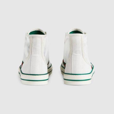 Gucci Ayakkabı Tennis 1977 Beyaz - Gucci Sneakers Ayakkabi Mens Gucci Tennis 1977 High Top Sneaker Beyaz