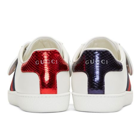 Gucci Ayakkabı Ace Beyaz - Gucci White 25 Ace Sneakers