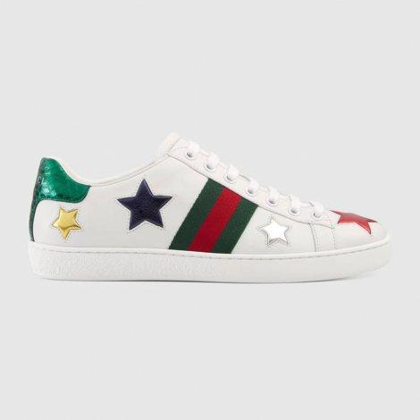 Gucci Ace Star Ayakkabı Beyaz - 57 #Gucci #GucciAceStar #Ayakkabı