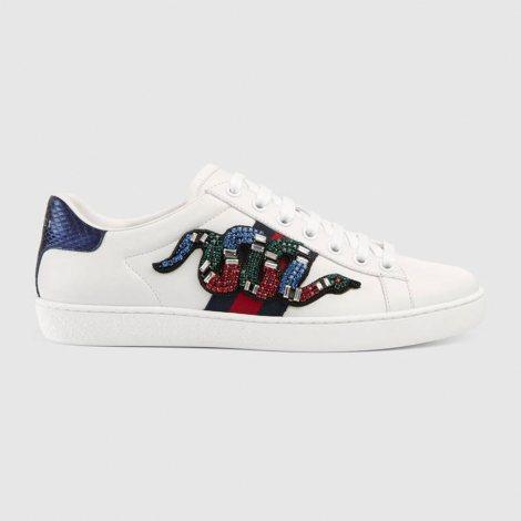 Gucci Ace Snake Ayakkabı Beyaz - 58 #Gucci #GucciAceSnake #Ayakkabı