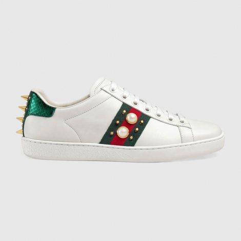 Gucci Ace Sneakers Ayakkabı Beyaz - 60 #Gucci #GucciAceSneakers #Ayakkabı