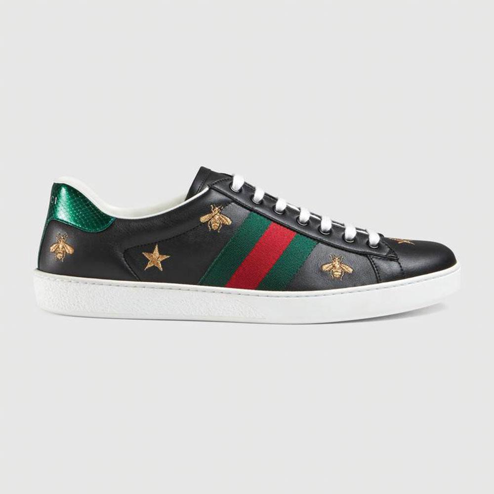 Gucci Ace Bee Star Ayakkabı Siyah - 28 #Gucci #GucciAceBeeStar #Ayakkabı