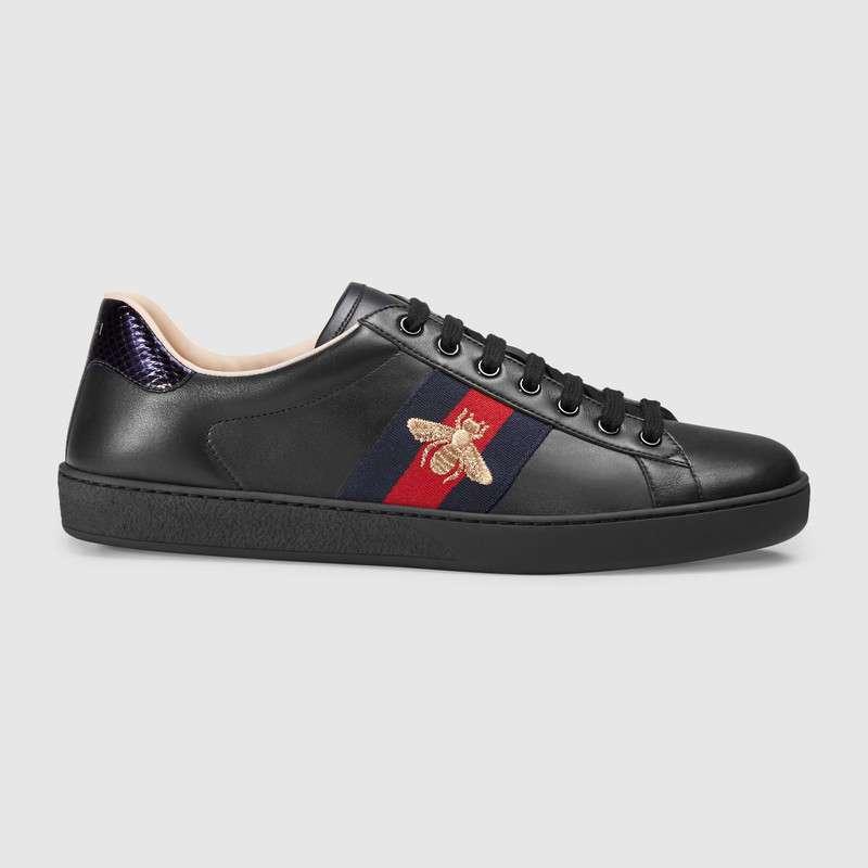 Gucci Ace Bee Ayakkabı Siyah - 7 #Gucci #GucciAceBee #Ayakkabı