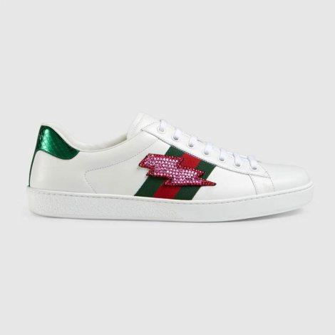 Gucci Ace Flash Ayakkabı Beyaz - 10 #Gucci #GucciAceFlash #Ayakkabı