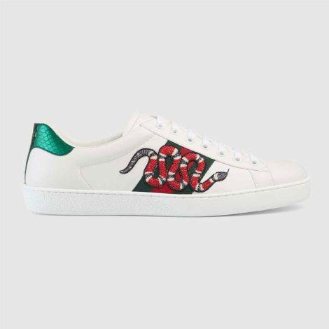 Gucci Ace Snake Ayakkabı Beyaz - 12 #Gucci #GucciAceSnake #Ayakkabı