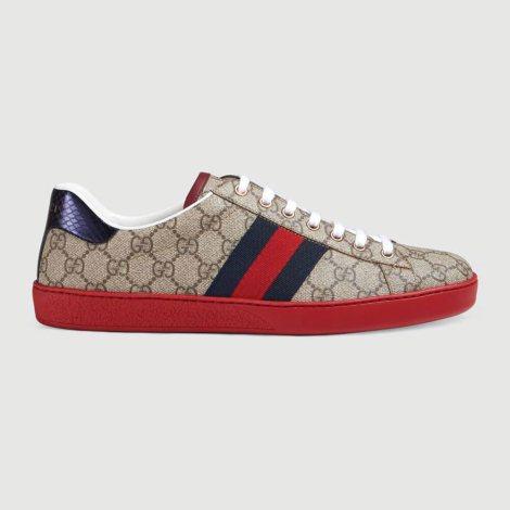 Gucci Ace GG Ayakkabı Kırmızı - 21 #Gucci #GucciAceGG #Ayakkabı
