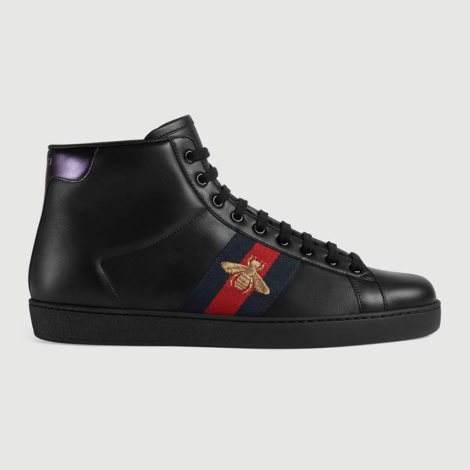 Gucci HighTop Bee Ayakkabı Siyah - 17 #Gucci #GucciHighTopBee #Ayakkabı