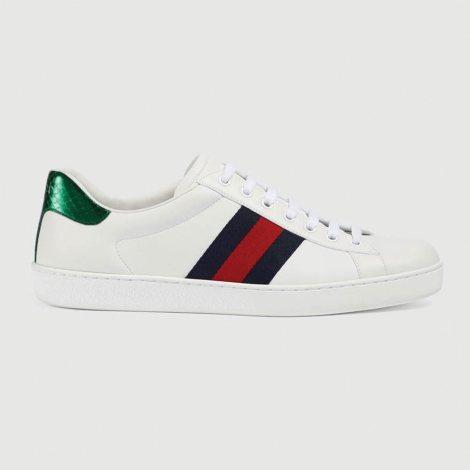 Gucci Ace Leather Ayakkabı Beyaz - 9 #Gucci #GucciAceLeather #Ayakkabı