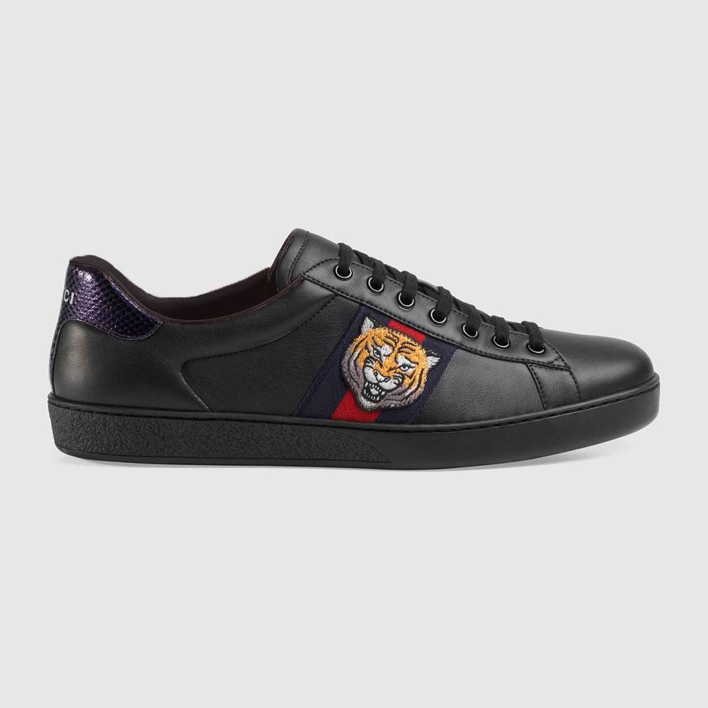 Gucci Ace Tiger Ayakkabı Siyah - 8 #Gucci #GucciAceTiger #Ayakkabı