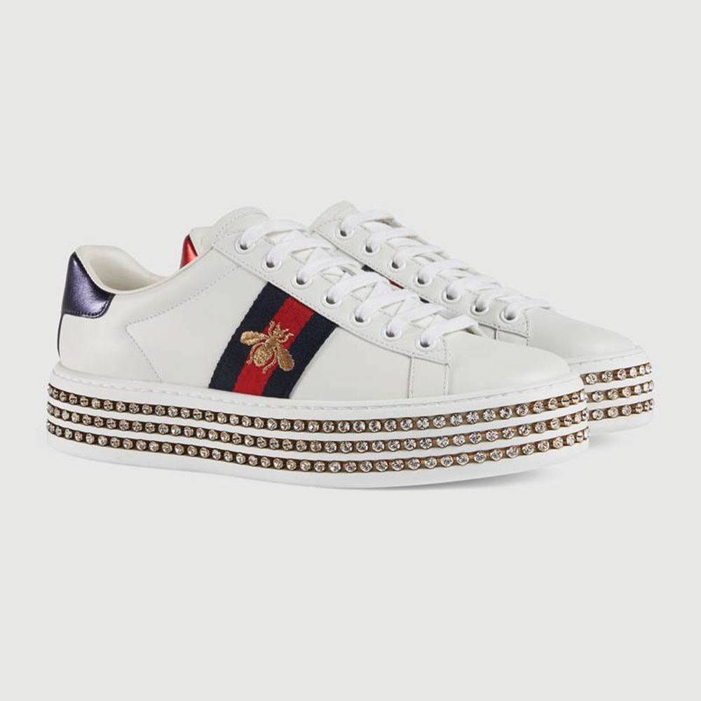 Gucci Ace Bee Ayakkabı Beyaz - 75 #Gucci #GucciAceBee #Ayakkabı - 2