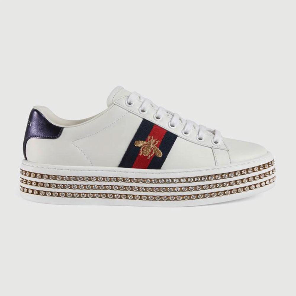 Gucci Ace Bee Ayakkabı Beyaz - 75 #Gucci #GucciAceBee #Ayakkabı
