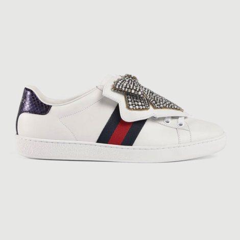Gucci Ace Ribbon Ayakkabı Beyaz - 74 #Gucci #GucciAceRibbon #Ayakkabı