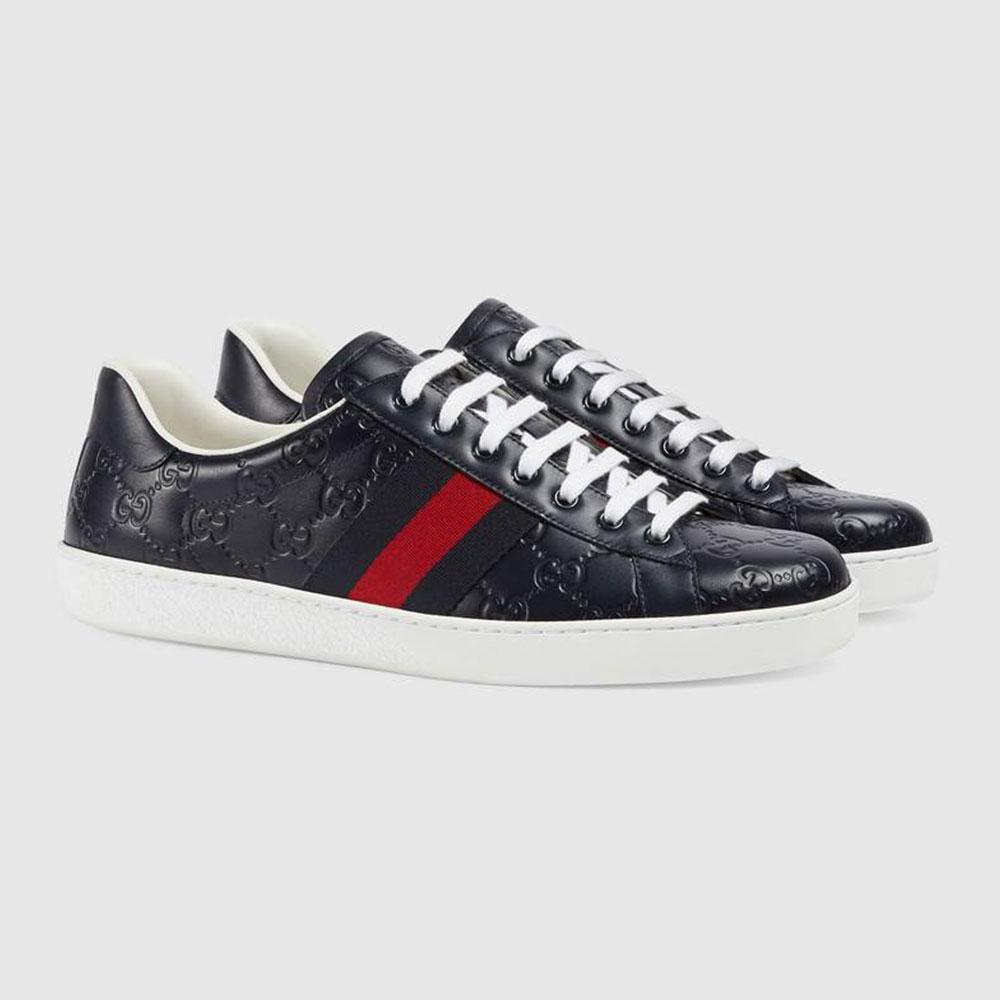 Gucci Ace Signature Ayakkabı Lacivert - 31 #Gucci #GucciAceSignature #Ayakkabı - 2
