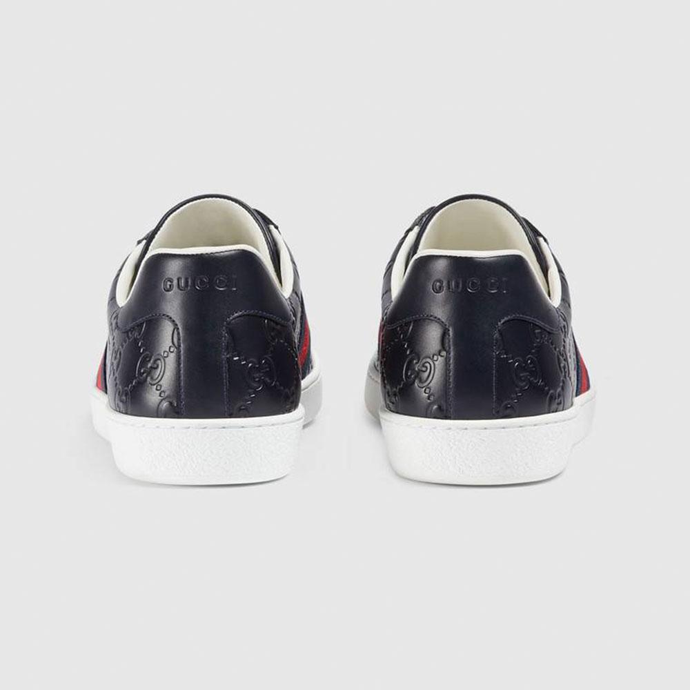 Gucci Ace Signature Ayakkabı Lacivert - 31 #Gucci #GucciAceSignature #Ayakkabı - 4