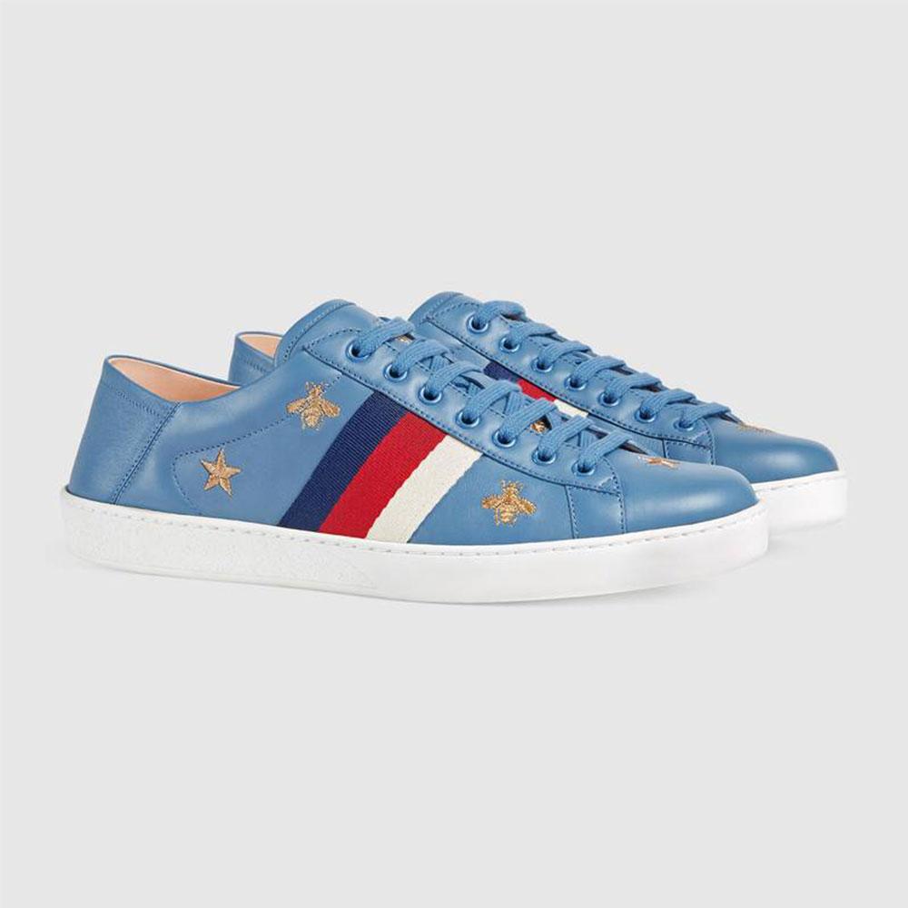 Gucci Ace Stars Ayakkabı Mavi - 34 #Gucci #GucciAceStars #Ayakkabı - 2