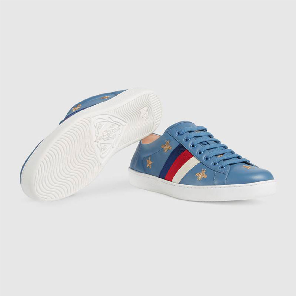 Gucci Ace Stars Ayakkabı Mavi - 34 #Gucci #GucciAceStars #Ayakkabı - 4