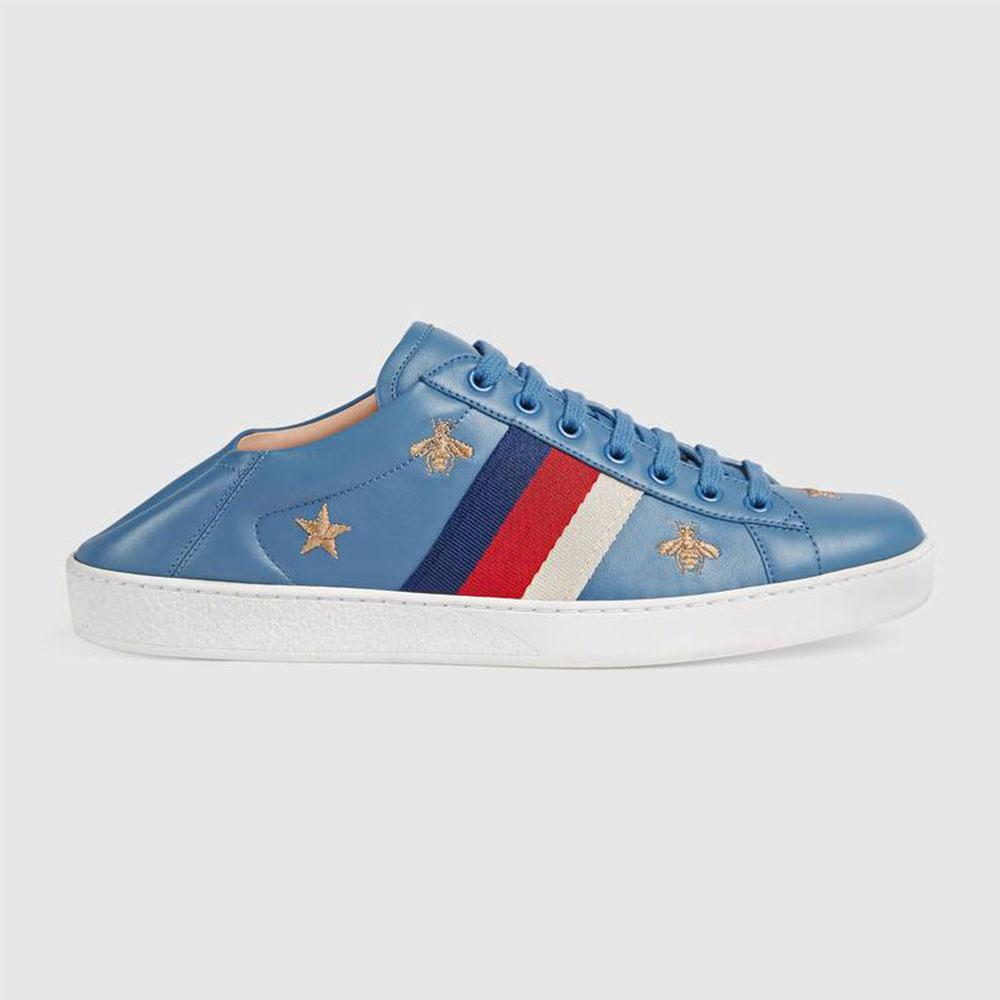 Gucci Ace Stars Ayakkabı Mavi - 34 #Gucci #GucciAceStars #Ayakkabı