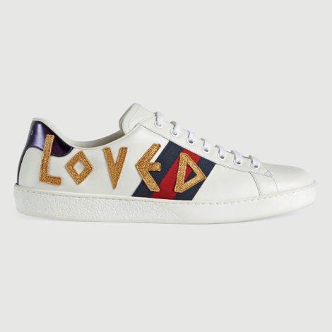 Gucci Ace Loved Ayakkabı Beyaz - 23 #Gucci #GucciAceLoved #Ayakkabı