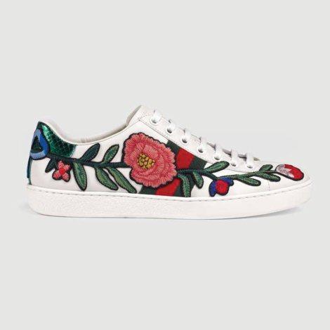 Gucci Ace Rose Ayakkabı Beyaz - 66 #Gucci #GucciAceRose #Ayakkabı