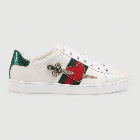 Gucci Ace Heart Ayakkabı Beyaz - 68 #Gucci #GucciAceHeart #Ayakkabı