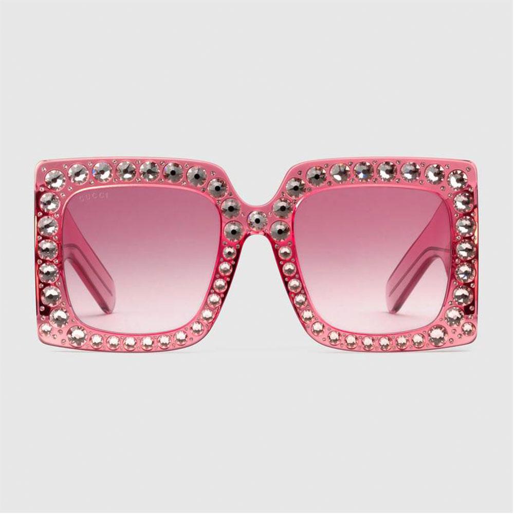 Gucci Square Gözlük Pembe - 5 #Gucci #GucciSquare #Gözlük