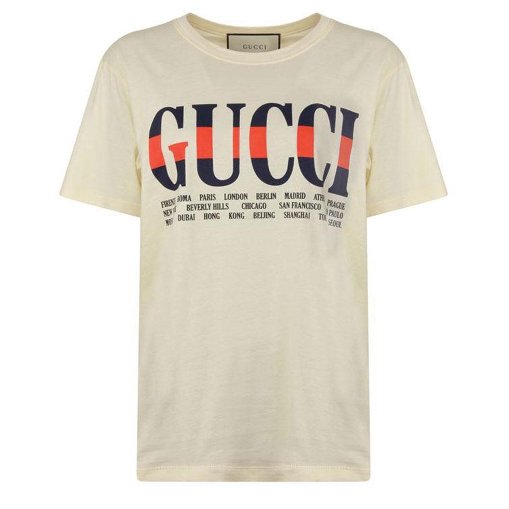 Gucci Cities Tişört Beyaz - 109 #Gucci #GucciCities #Tişört