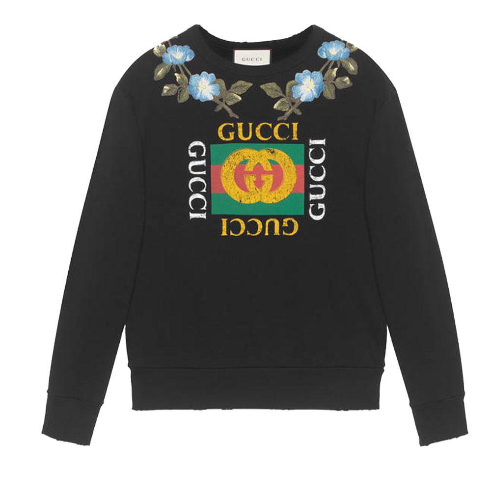 Gucci Flowers Sweatshirt Siyah - 10 #Gucci #GucciFlowers #Sweatshirt