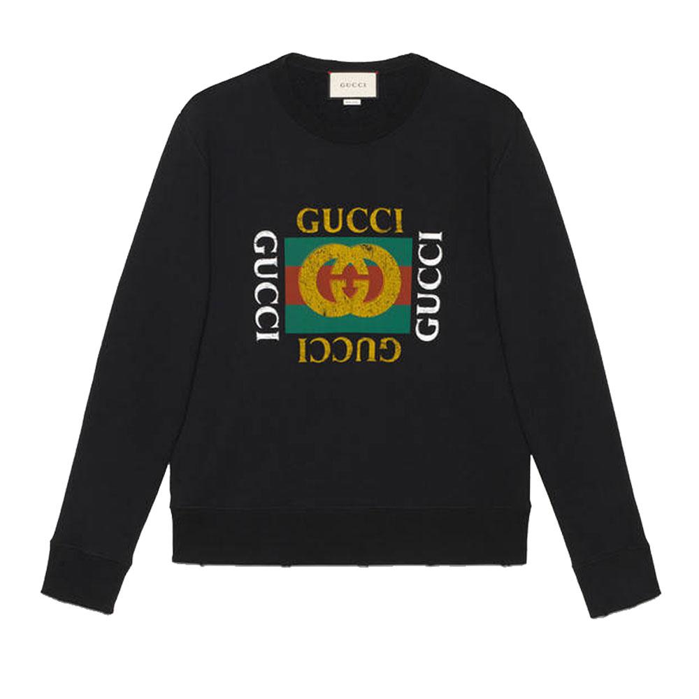 Gucci Logo Sweatshirt Siyah - 11 #Gucci #GucciLogo #Sweatshirt