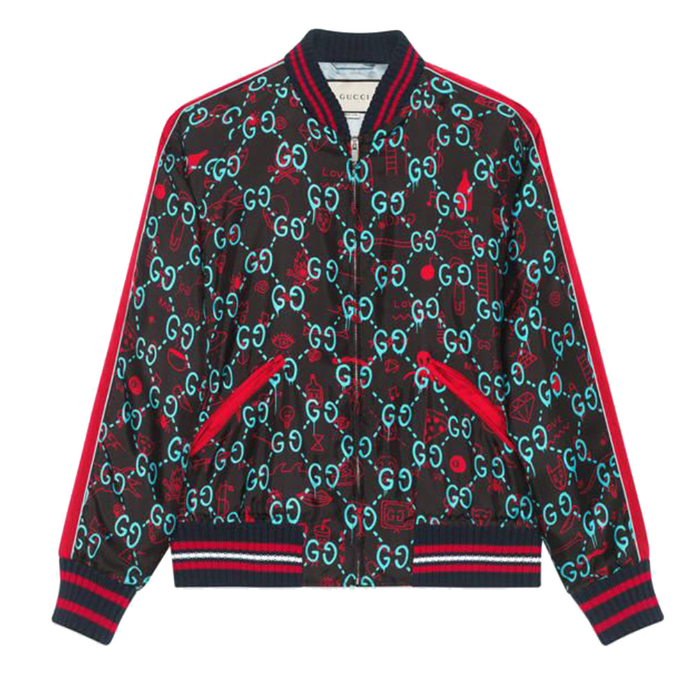 Gucci Ghost Bomber Ceket Siyah - 20 #Gucci #GucciGhost #Bomber Ceket