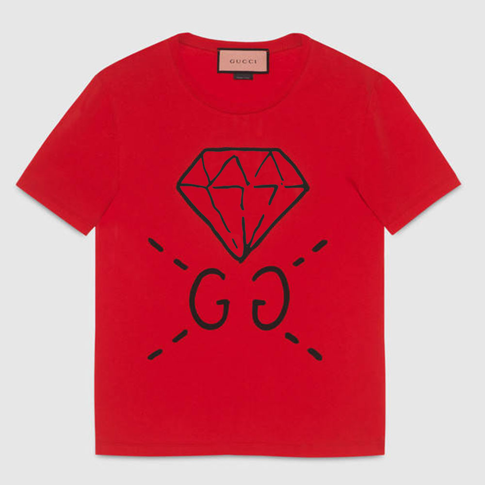 Gucci Ghost Tişört Kırmızı - 2 #Gucci #GucciGhost #Tişört