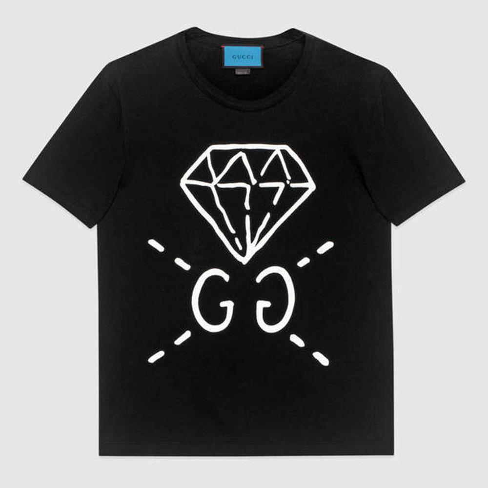 Gucci Ghost Tişört Siyah - 1 #Gucci #GucciGhost #Tişört