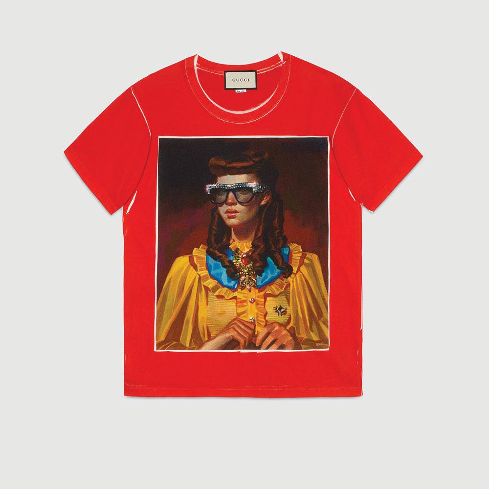 Gucci Ignasi Monreal Tişört Kırmızı - 60 #Gucci #GucciIgnasiMonreal #Tişört