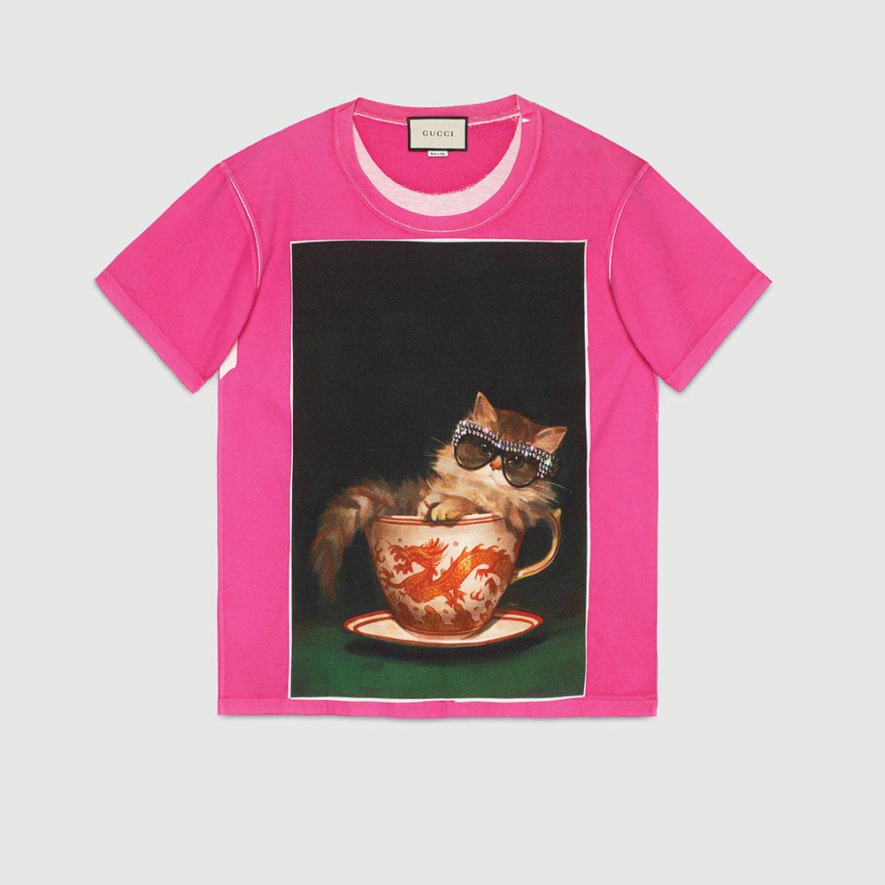 Gucci Ignasi Monreal Tişört Fuşya - 61 #Gucci #GucciIgnasiMonreal #Tişört