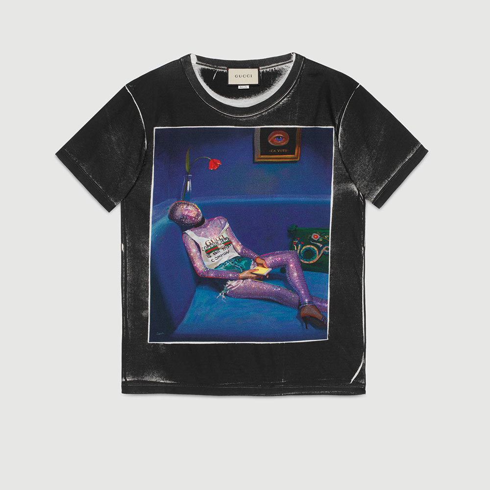 Gucci Ignasi Monreal Tişört Siyah - 58 #Gucci #GucciIgnasiMonreal #Tişört