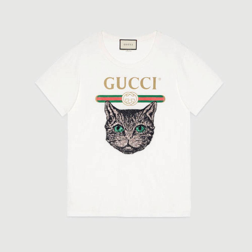 Gucci Mystic Tişört Beyaz - 51 #Gucci #GucciMystic #Tişört