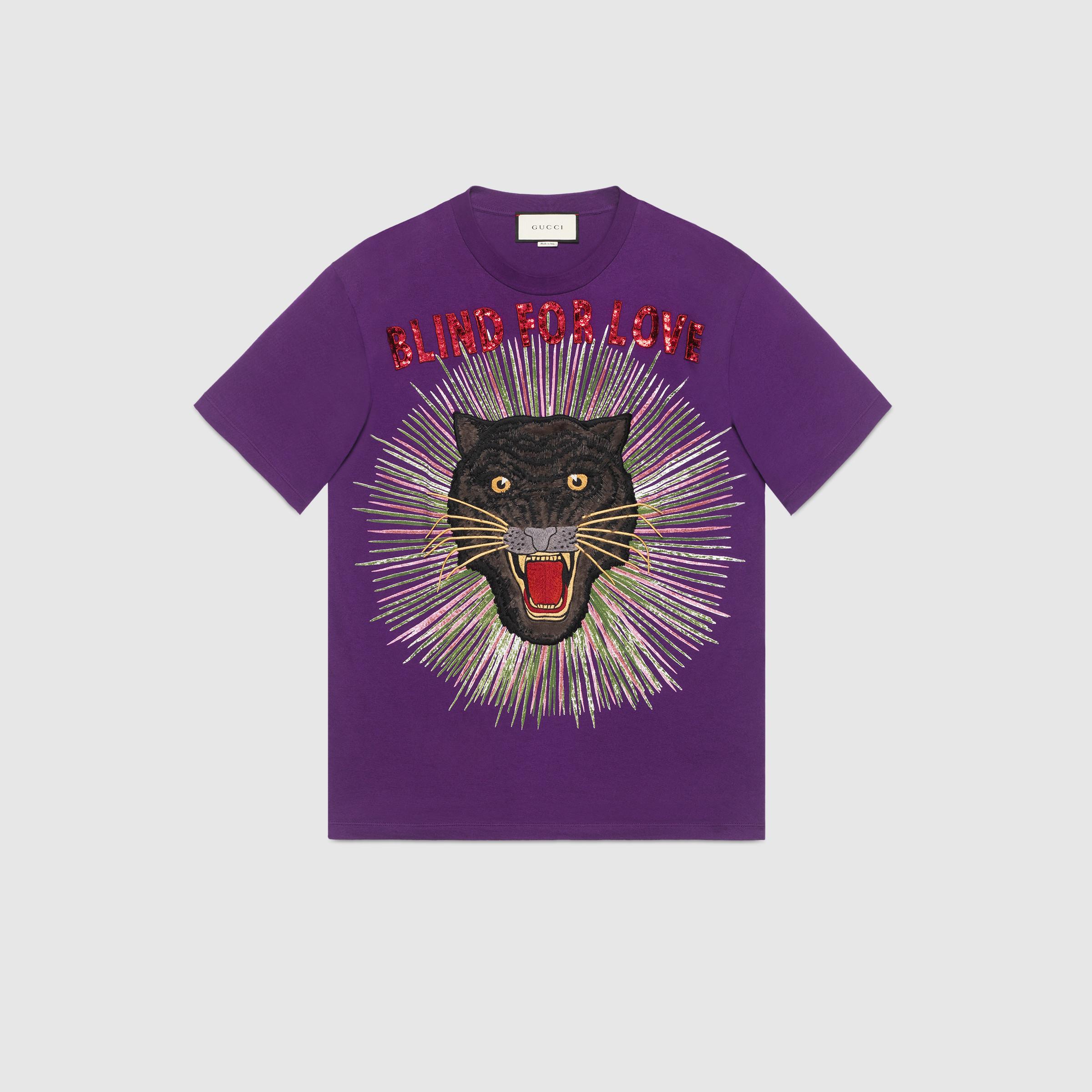 Gucci Panther Tişört Mor - 64 #Gucci #GucciPanther #Tişört