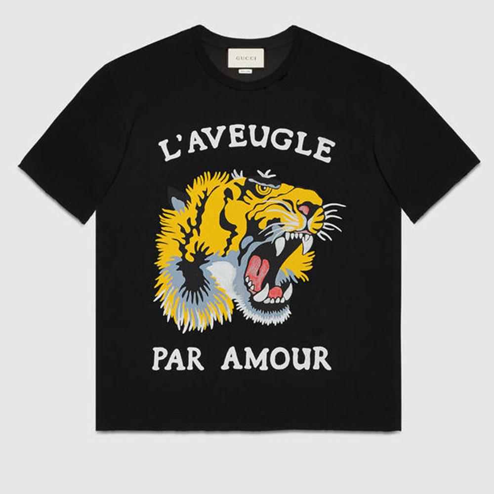 Gucci Tiger Tişört Siyah - 3 #Gucci #GucciTiger #Tişört