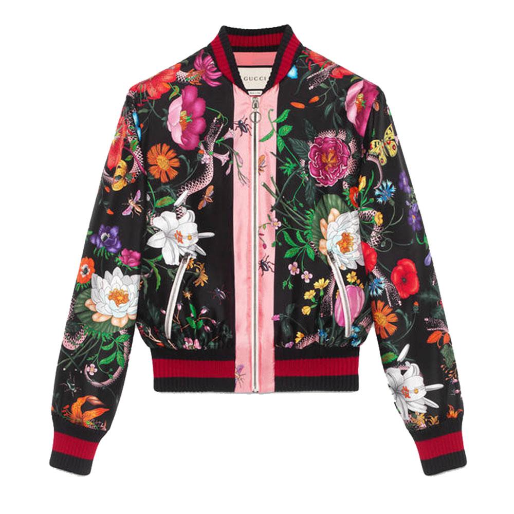 Gucci Snake Bomber Ceket Floral - 16 #Gucci #GucciSnake #Bomber Ceket