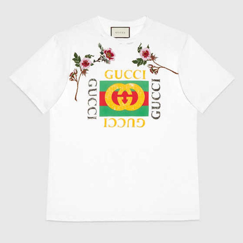 Gucci Print Tişört Beyaz - 2 #Gucci #GucciPrint #Tişört