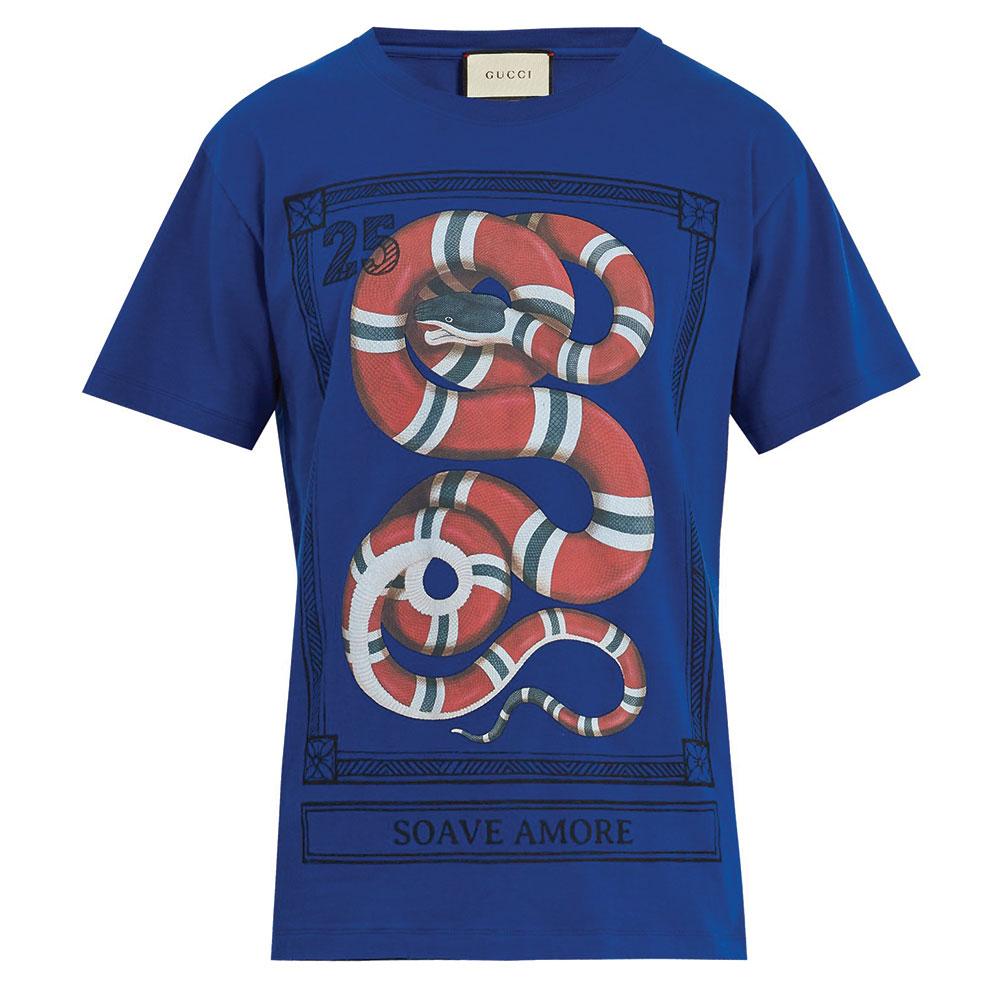 Gucci Jersey Tişört Mavi - 113 #Gucci #GucciJersey #Tişört