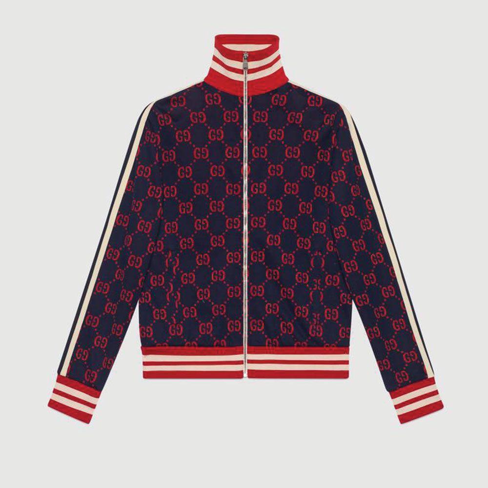 Gucci Jacquard Eşofman Üst Kırmızı - 44 #Gucci #GucciJacquard #Eşofman Üst