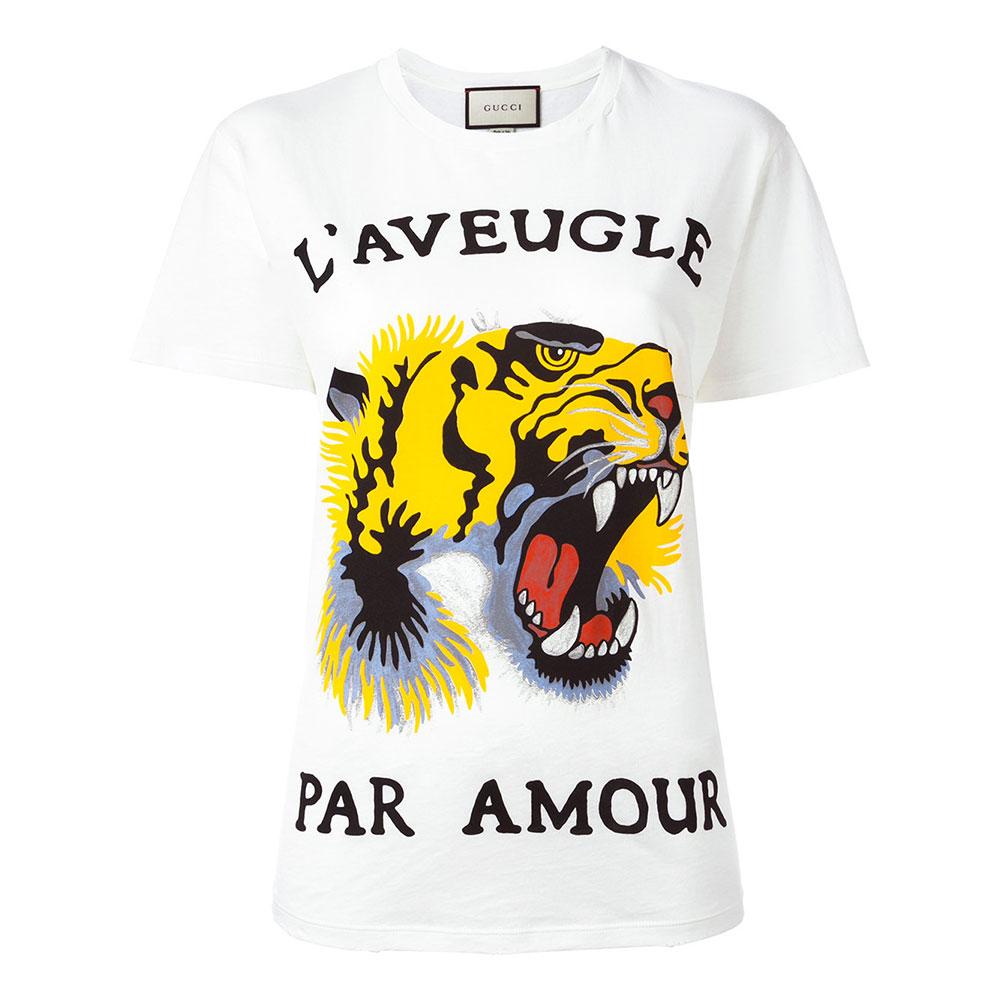 Gucci Tiger Tişört Beyaz - 1 #Gucci #GucciTiger #Tişört