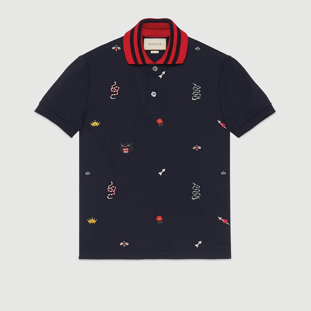 Gucci Polo Tişört Lacivert - 31 #Gucci #GucciPolo #Tişört