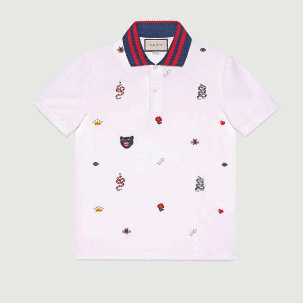 Gucci Polo Tişört Beyaz - 30 #Gucci #GucciPolo #Tişört