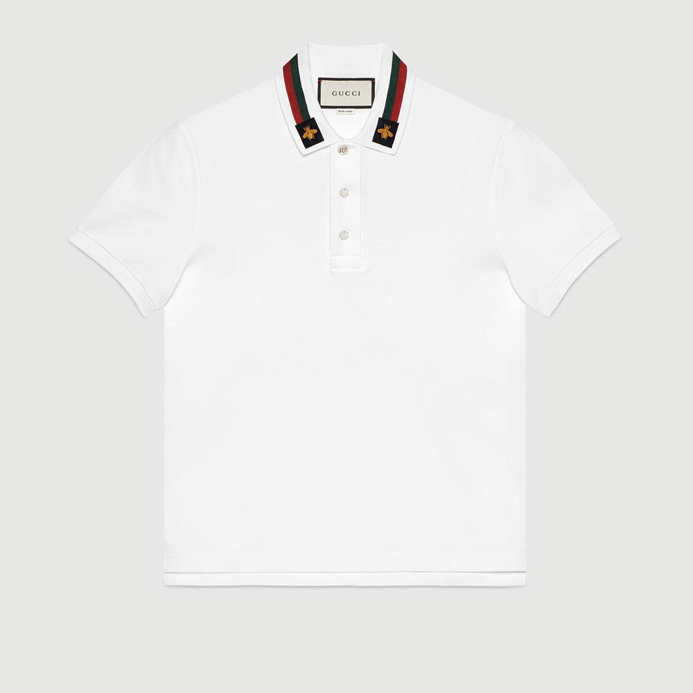 Gucci Polo Tişört Beyaz - 34 #Gucci #GucciPolo #Tişört