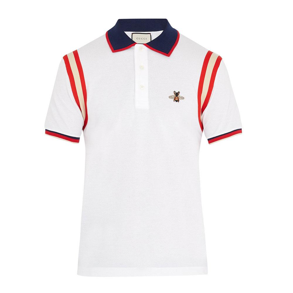 Gucci Pique Tişört Beyaz - 116 #Gucci #GucciPique #Tişört
