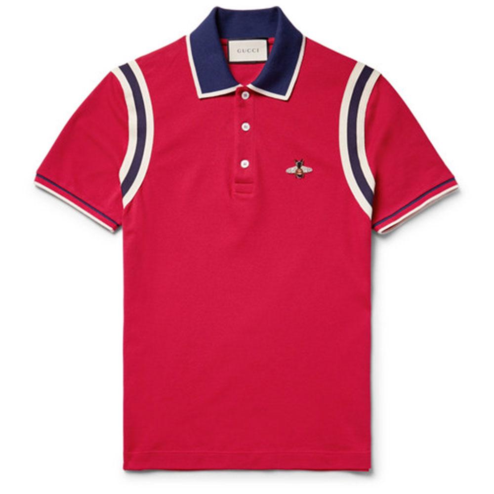 Gucci Pique Tişört Kırmızı - 115 #Gucci #GucciPique #Tişört