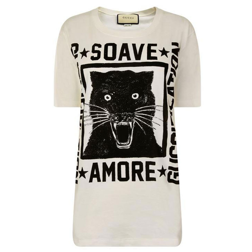 Gucci Panther Tişört Beyaz - 69 #Gucci #GucciPanther #Tişört